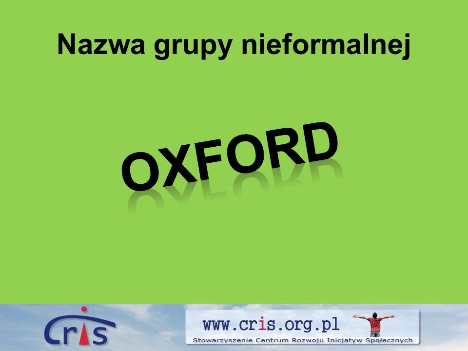 Nazwa grupy nieformalnej