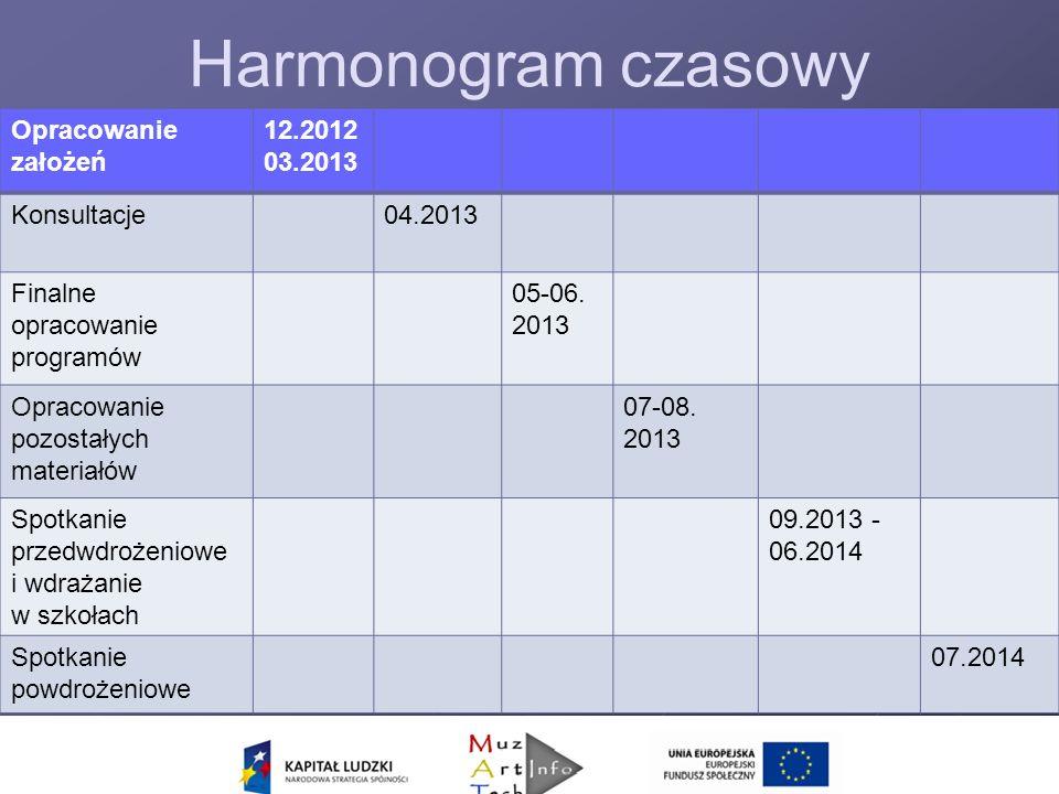 Nowy nadzór Harmonogram czasowy Opracowanie założeń 12.2012 03.2013 Konsultacje04.2013 Finalne opracowanie programów 05-06.