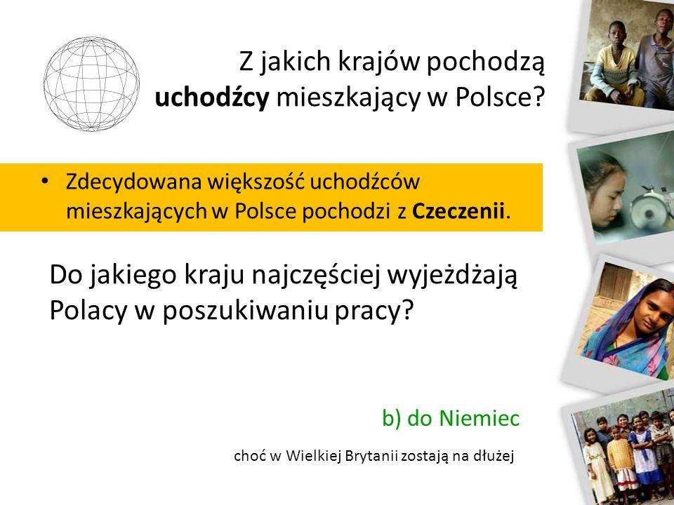 Z jakich krajów pochodzą uchodźcy mieszkający w Polsce? Zdecydowana większość uchodźców mieszkających w Polsce pochodzi z Czeczenii. Do jakiego kraju