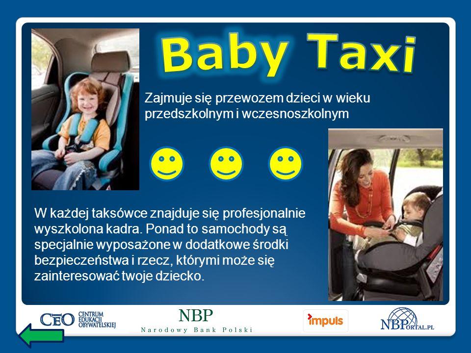 W każdej taksówce znajduje się profesjonalnie wyszkolona kadra.