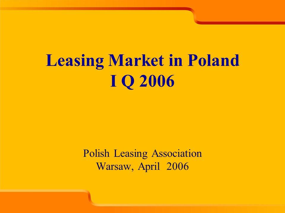 Polish Leasing Association Warsaw, April 2006 Leasing Market in Poland I Q 2006
