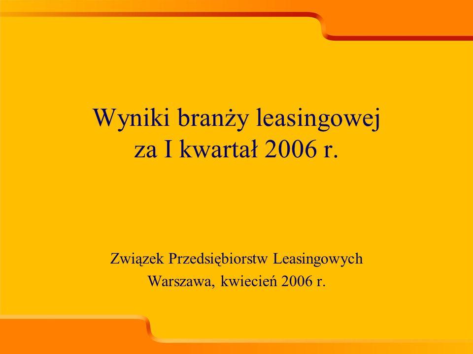 Związek Przedsiębiorstw Leasingowych Warszawa, kwiecień 2006 r.