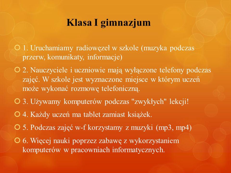 Klasa I gimnazjum 1.
