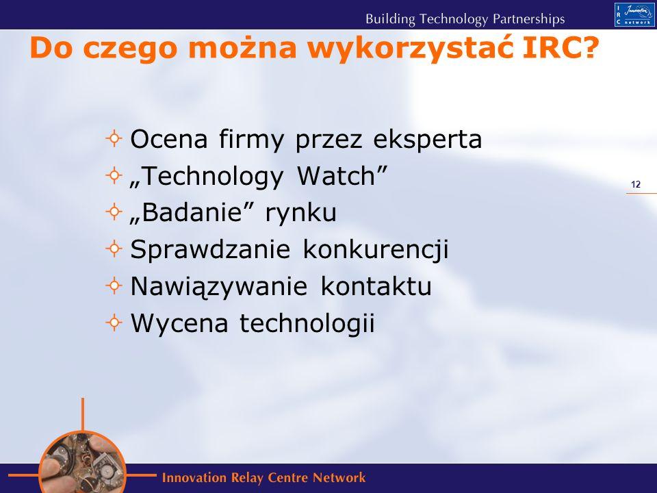 12 Do czego można wykorzystać IRC.