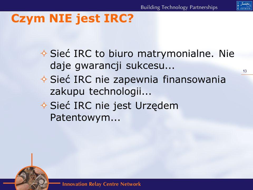 13 Czym NIE jest IRC. Sieć IRC to biuro matrymonialne.
