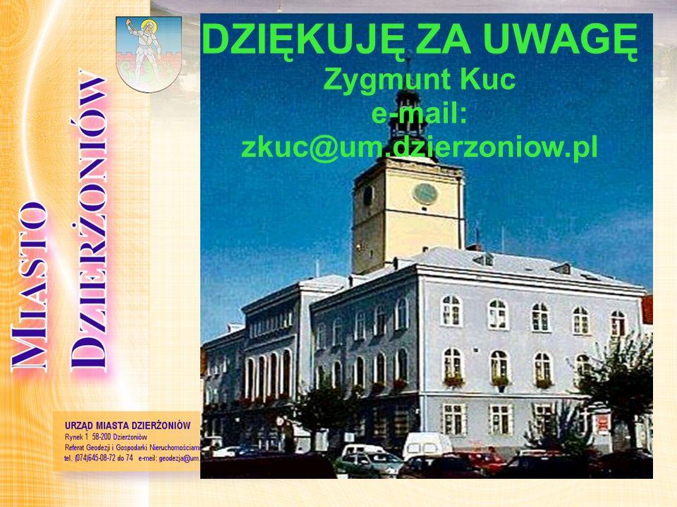 Dziękuję za uwagę DZIĘKUJĘ ZA UWAGĘ Zygmunt Kuc e-mail: zkuc@um.dzierzoniow.pl