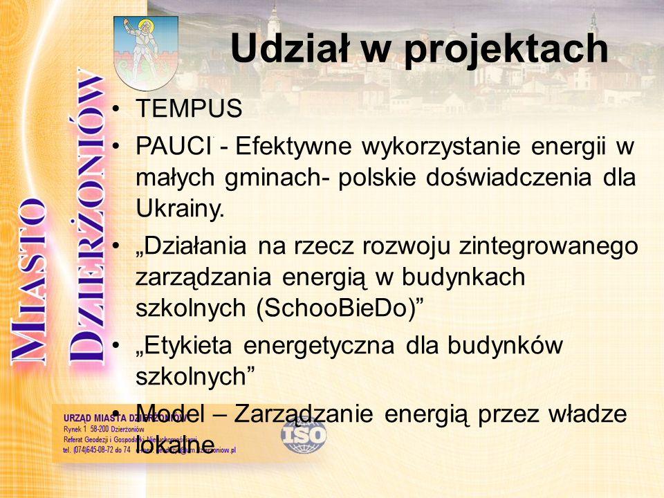 Udział w projektach TEMPUS PAUCI - Efektywne wykorzystanie energii w małych gminach- polskie doświadczenia dla Ukrainy. Działania na rzecz rozwoju zin