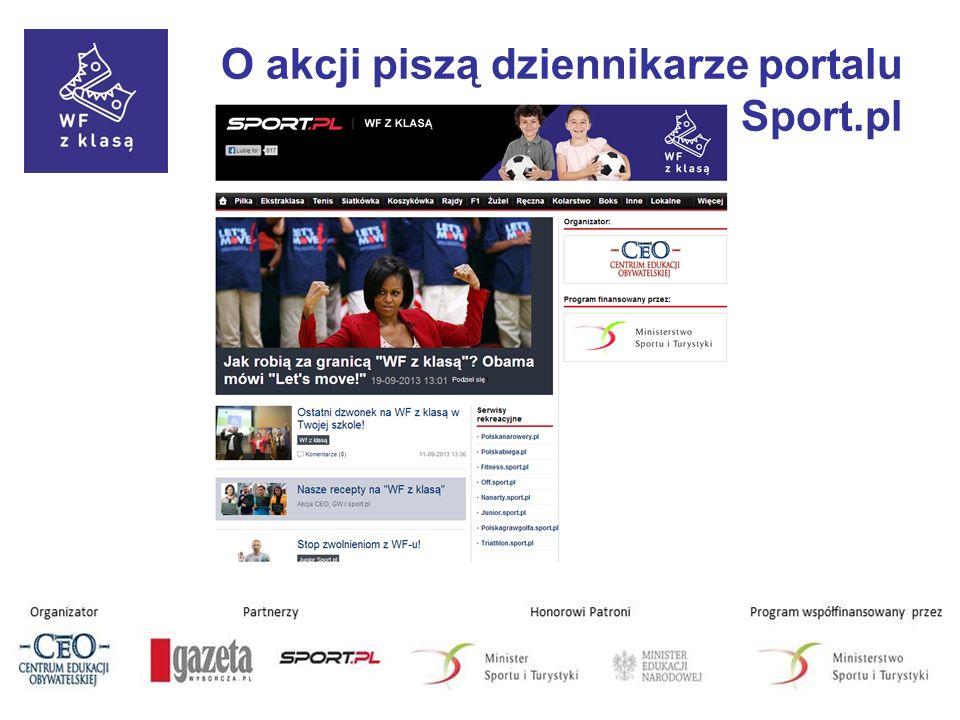 O akcji piszą dziennikarze portalu Sport.pl