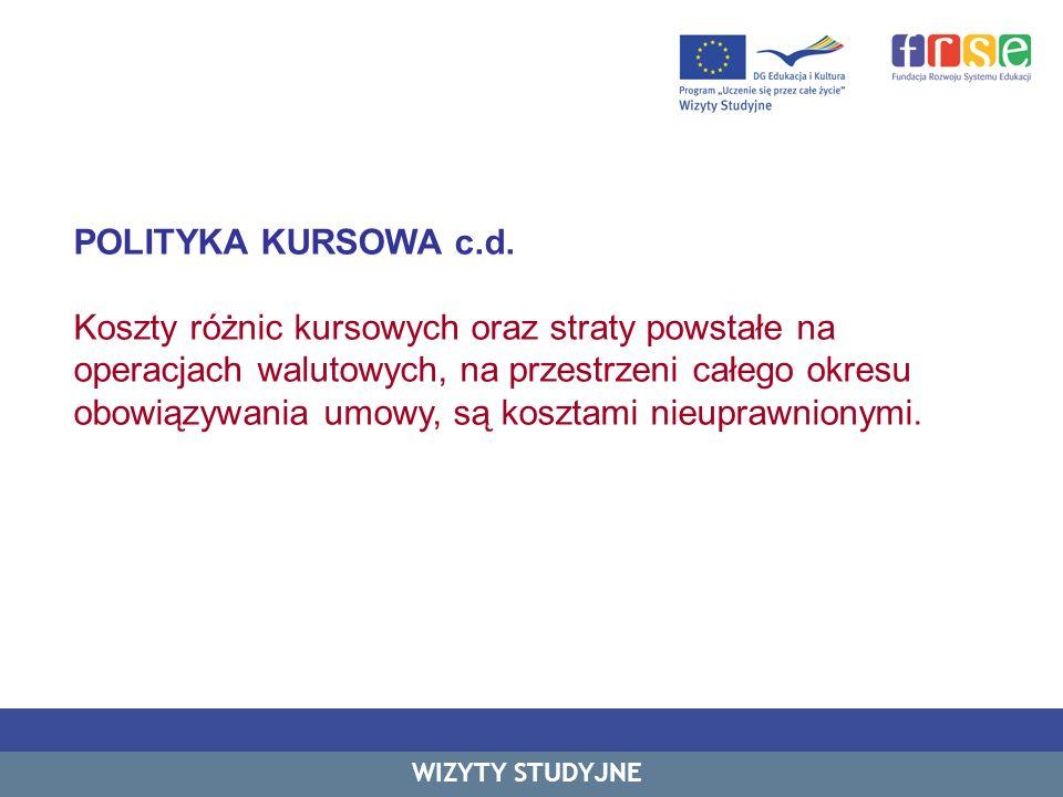 POLITYKA KURSOWA c.d.