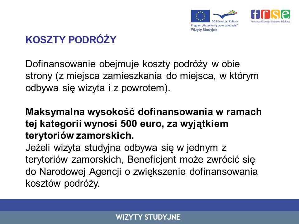 KOSZTY PODRÓŻY c.d.