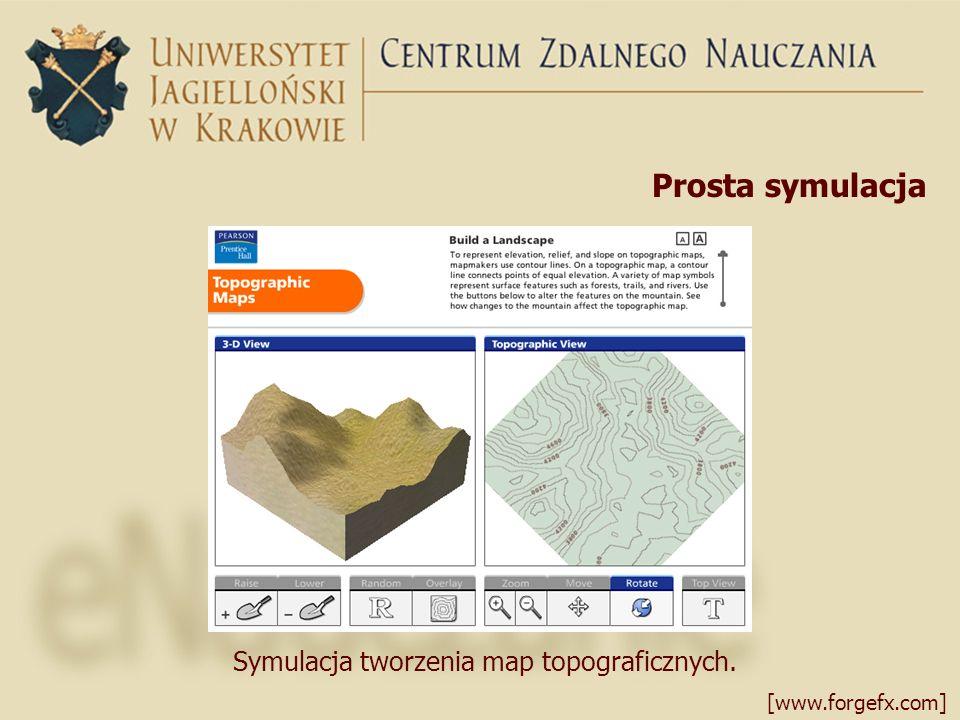 Prosta symulacja [www.forgefx.com] Symulacja tworzenia map topograficznych.