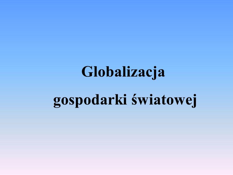 Wielość definicji Brak jednorodnej definicji Termin globalizacja obejmuje wiele elementów - umiędzynarodowienie, wspólnota państw ściśle ze sobą powiązanych, zasadnicze trendy w światowej ekonomii, polityce, zyciu społecznym i kulturze, - mcdonaldyzacja- krytyka - homogenizacja kultury – błędne rozumienie