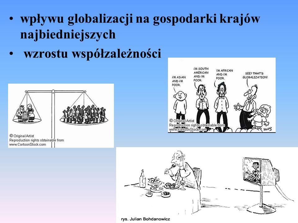 wpływu globalizacji na gospodarki krajów najbiedniejszych wzrostu współzależności