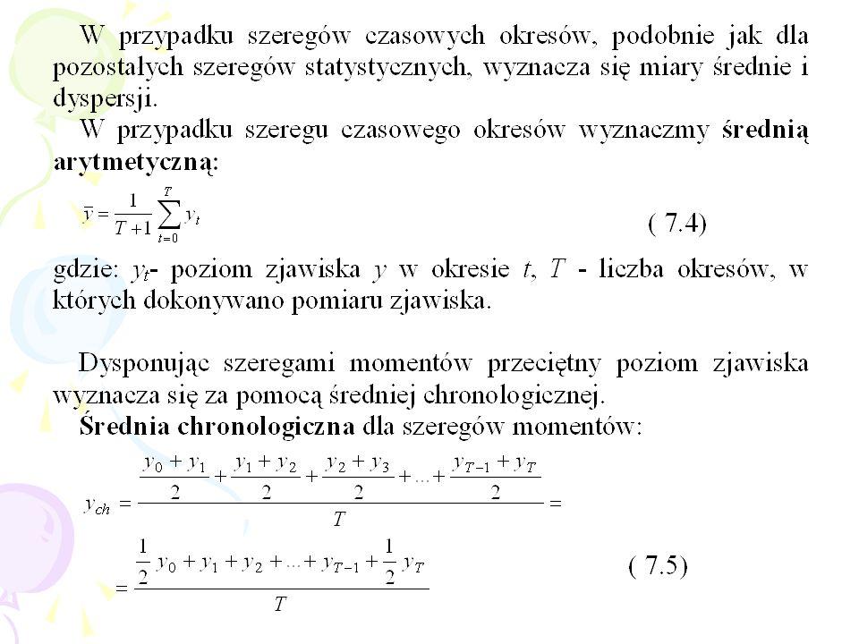 Porównania poziomów zjawiska w dwóch momentach lub okresach czasu dokonuje się najczęściej za pomocą wskaźników dynamiki zwanych indeksami.