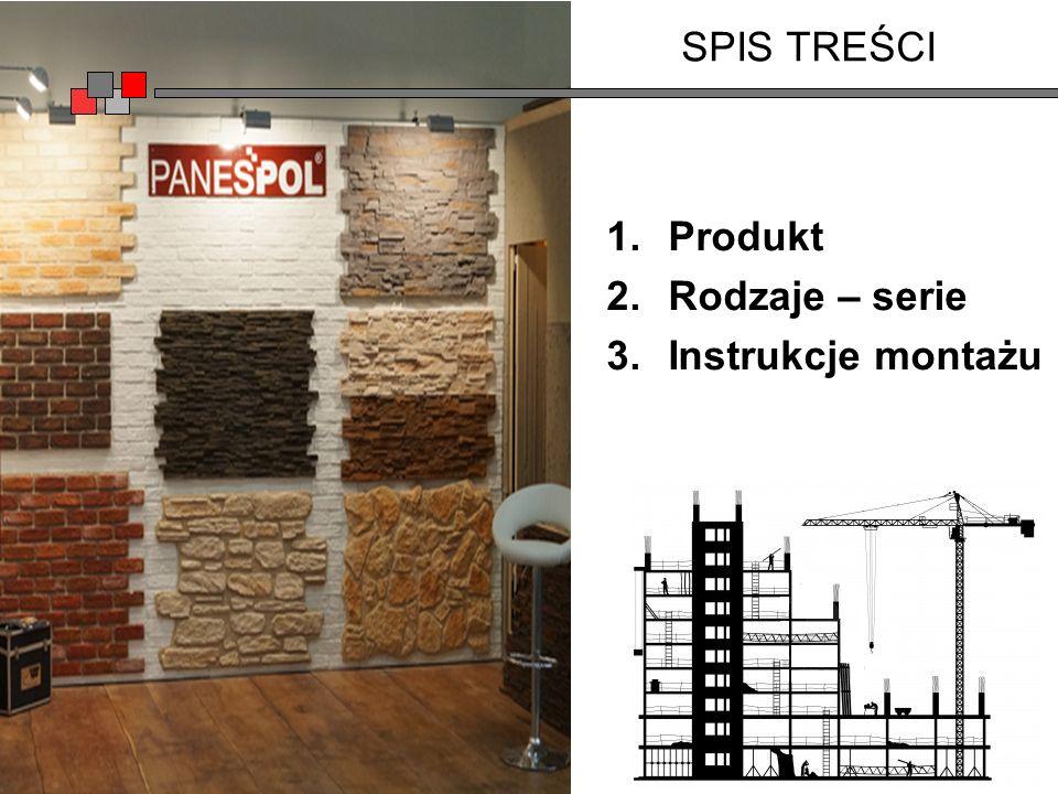 SPIS TREŚCI 1.Produkt 2.Rodzaje – serie 3.Instrukcje montażu