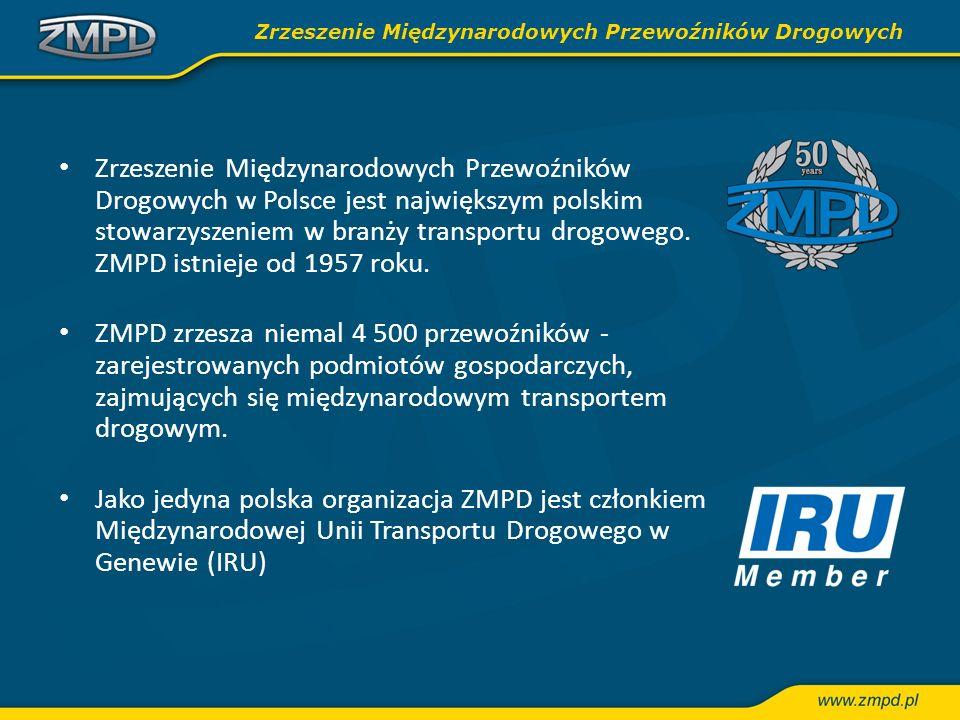Zrzeszenie Międzynarodowych Przewoźników Drogowych w Polsce jest największym polskim stowarzyszeniem w branży transportu drogowego. ZMPD istnieje od 1