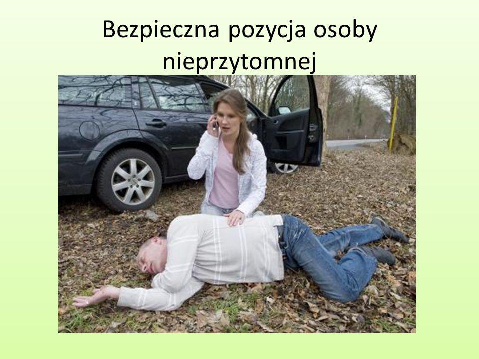 Bezpieczna pozycja osoby nieprzytomnej