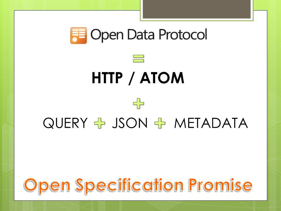 HTTP / ATOM QUERYJSONMETADATA