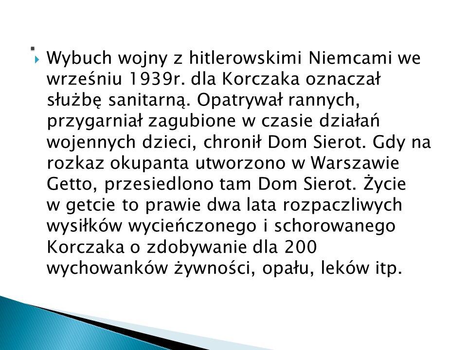 Przyjaciele wielokrotnie podejmowali próby wyprowadzenia Korczaka z Getta, zapewniali bezpieczne schronienie.