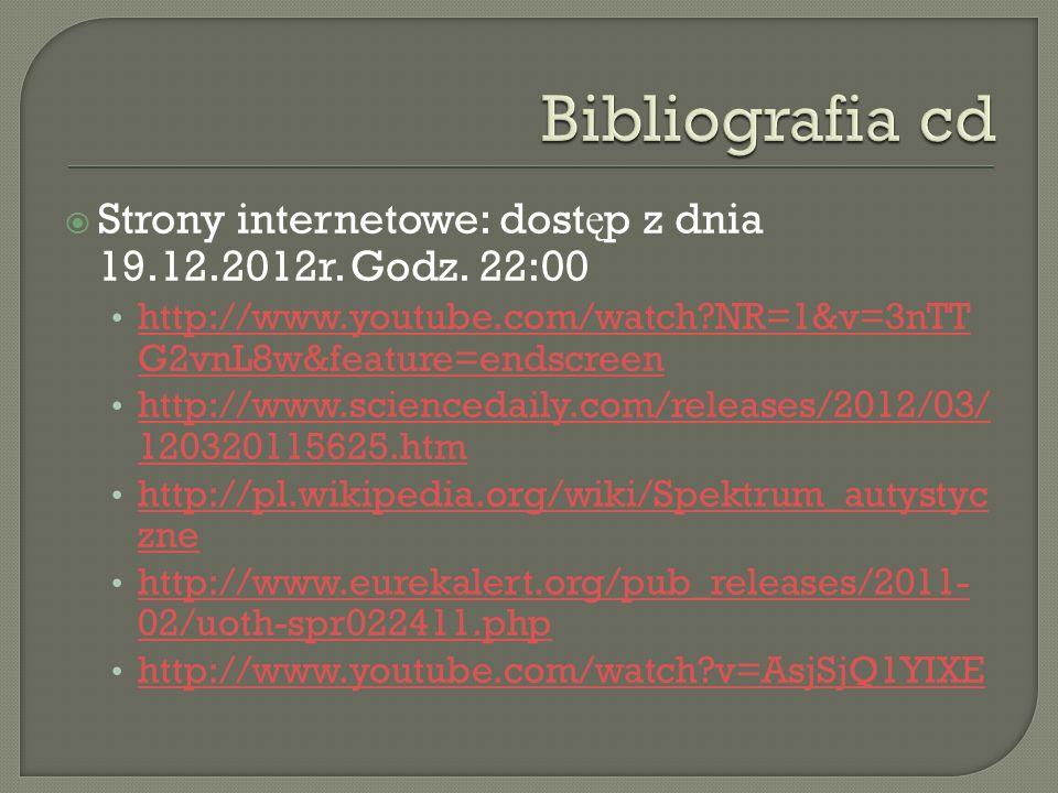 Strony internetowe: dost ę p z dnia 19.12.2012r. Godz. 22:00 http://www.youtube.com/watch?NR=1&v=3nTT G2vnL8w&feature=endscreen http://www.youtube.com