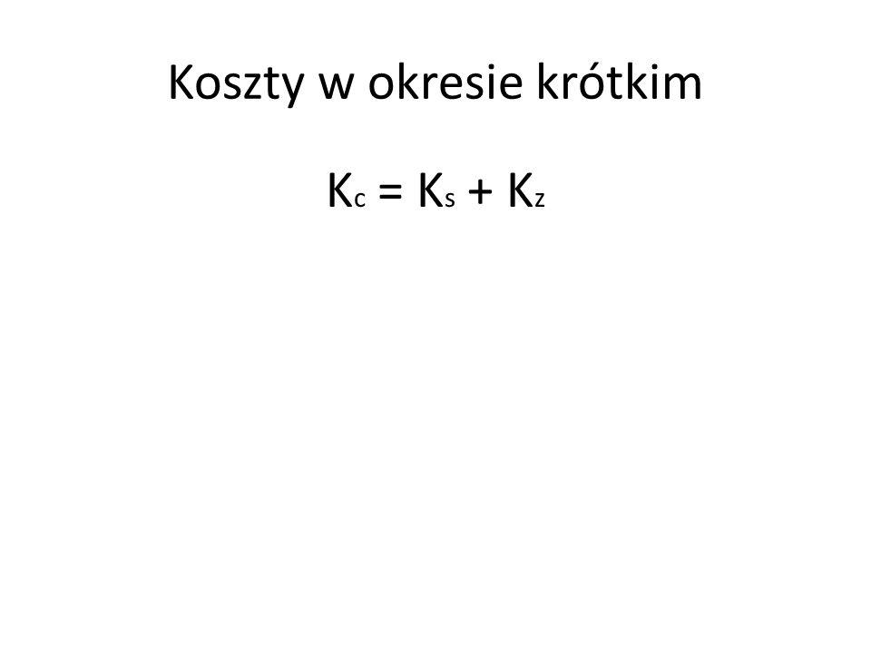 Koszty w okresie krótkim K c = K s + K z