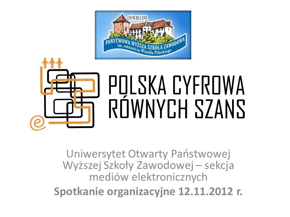 Plan spotkania oraganizacyjnego Otwarcie - Rektor PWSZ im.rtm Witolda Pileckiego w Oświęcimiu prof.