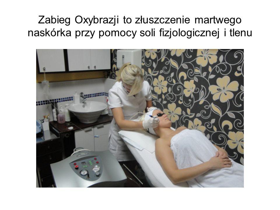Zabieg Oxybrazji to złuszczenie martwego naskórka przy pomocy soli fizjologicznej i tlenu