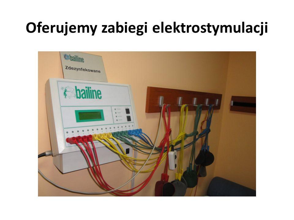 Oferujemy zabiegi elektrostymulacji