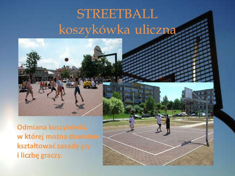 Odmiana koszykówki, w której można dowolnie kształtować zasady gry i liczbę graczy. STREETBALL koszykówka uliczna