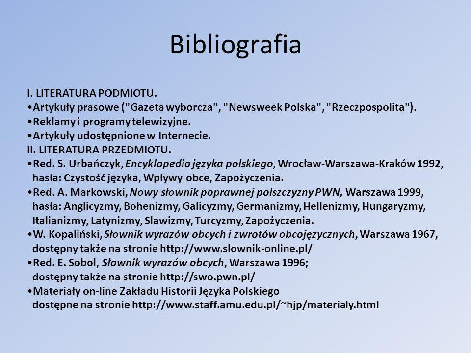 Bibliografia I. LITERATURA PODMIOTU. Artykuły prasowe (