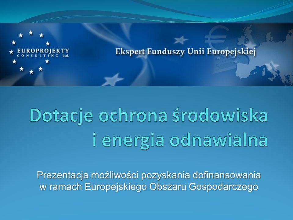Prezentacja możliwości pozyskania dofinansowania w ramach Europejskiego Obszaru Gospodarczego
