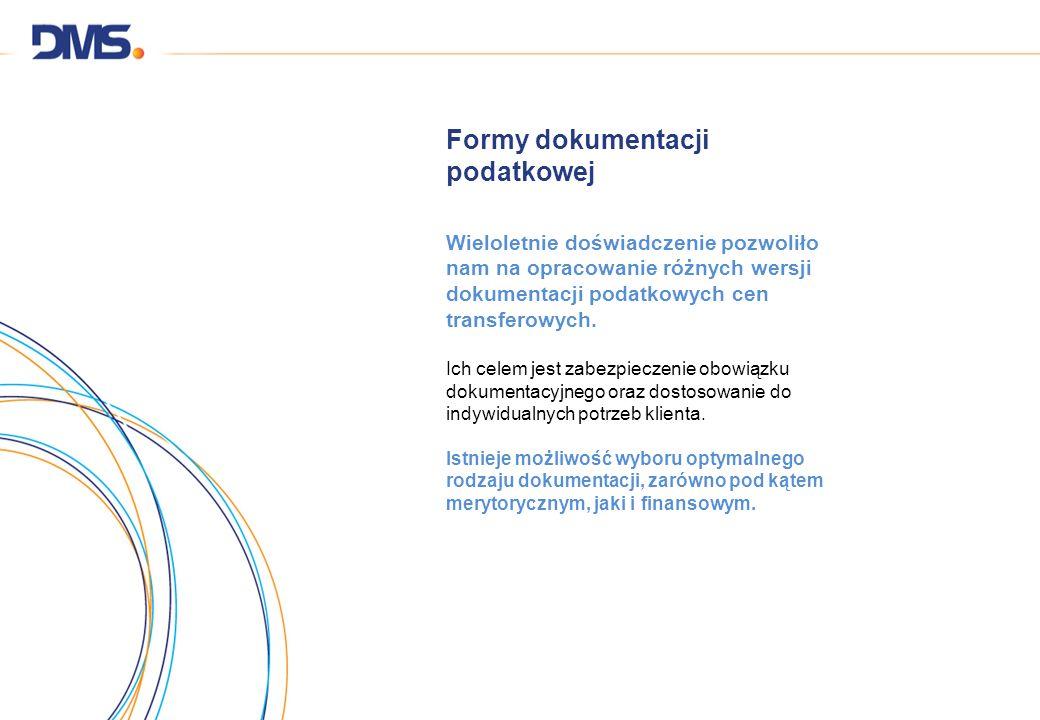 Formy dokumentacji podatkowej Wieloletnie doświadczenie pozwoliło nam na opracowanie różnych wersji dokumentacji podatkowych cen transferowych. Ich ce
