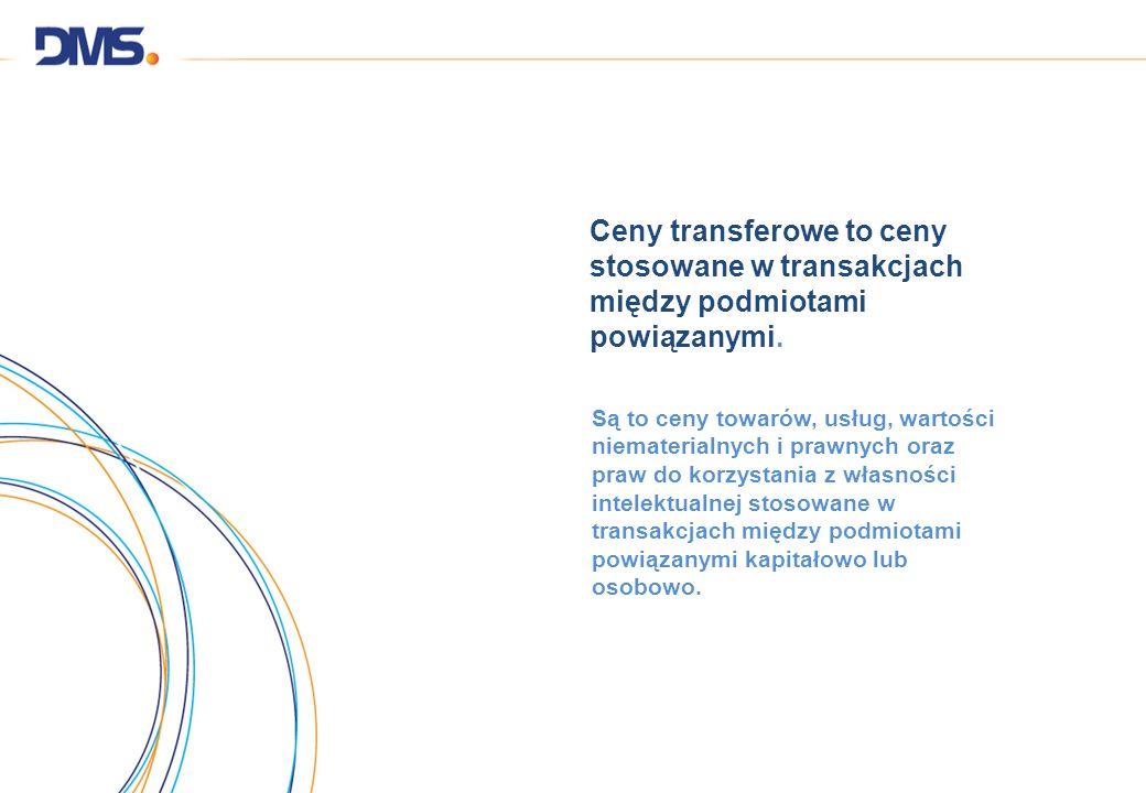 Ceny transferowe to ceny stosowane w transakcjach między podmiotami powiązanymi. Są to ceny towarów, usług, wartości niematerialnych i prawnych oraz p