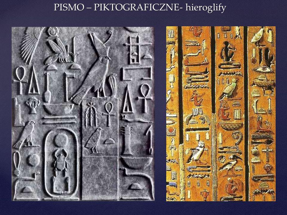 Znaki fonetyczne Pismo starożytnego Egiptu używało powszechnie znaków fonetycznych do zapisu języka egipskiego Są to znaki oznaczające 1, 2 lub nawet 3 spółgłoski.