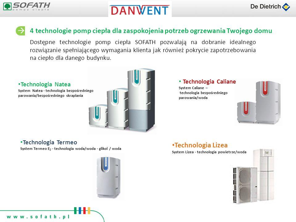 Dostępne technologie pomp ciepła SOFATH pozwalają na dobranie idealnego rozwiązanie spełniającego wymagania klienta jak również pokrycie zapotrzebowan