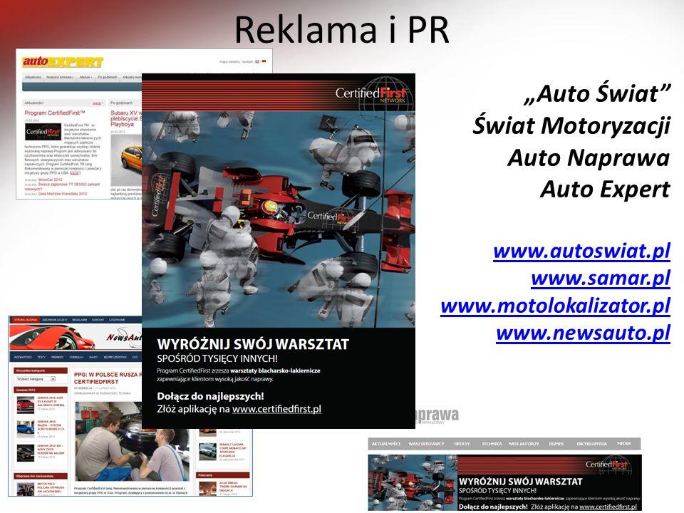 Reklama i PR Auto Świat Świat Motoryzacji Auto Naprawa Auto Expert www.autoswiat.pl www.samar.pl www.motolokalizator.pl www.newsauto.pl