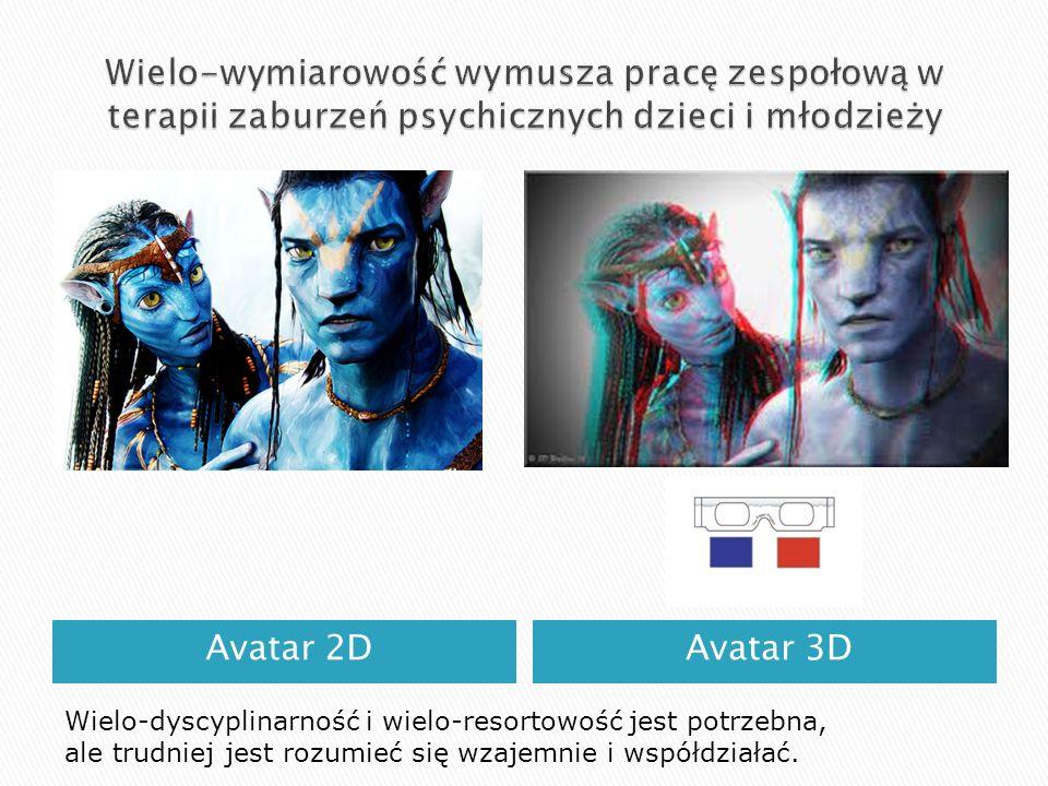 Avatar 2DAvatar 3D Wielo-dyscyplinarność i wielo-resortowość jest potrzebna, ale trudniej jest rozumieć się wzajemnie i współdziałać.