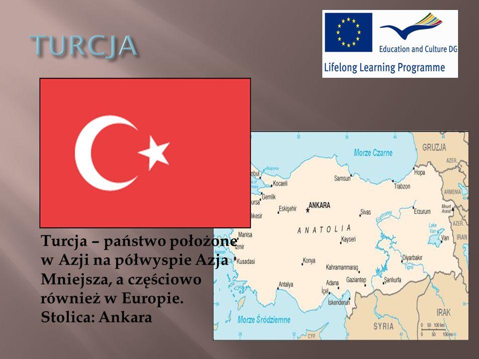 Turcja – państwo położone w Azji na półwyspie Azja Mniejsza, a częściowo również w Europie.