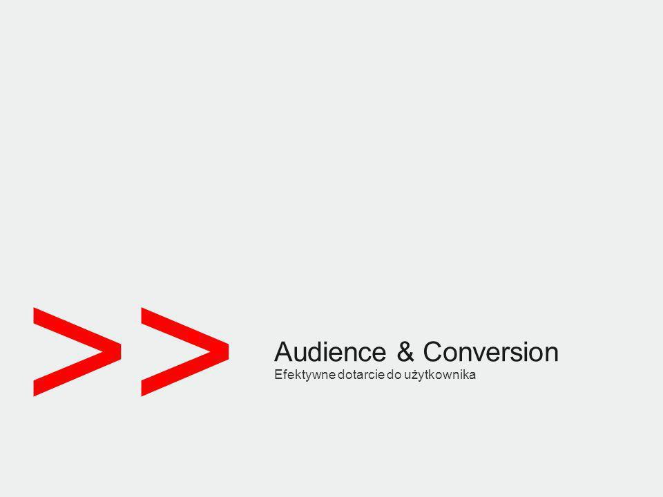 >> Audience & Conversion Efektywne dotarcie do użytkownika