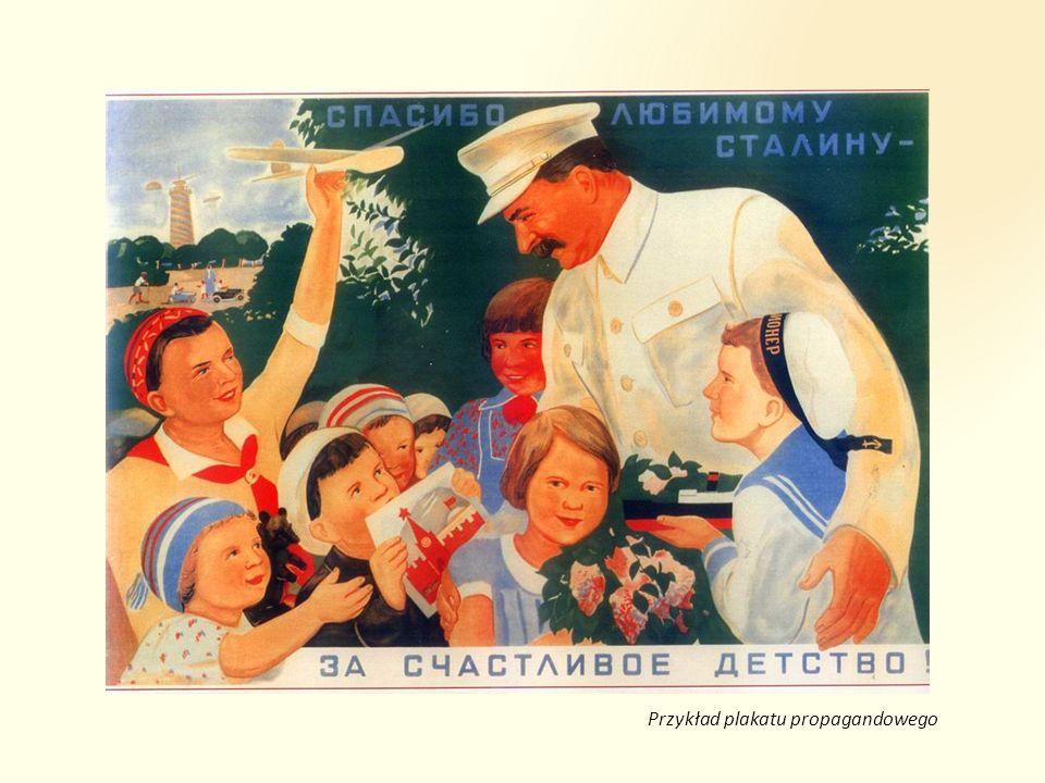 Przykład plakatu propagandowego