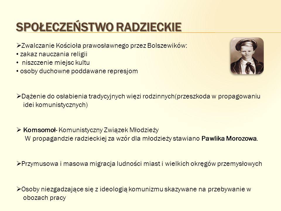 Sieć obozów pracy- łagrów (ros.łagier- obóz). Podlegały one Głównemu Zarządowi Obozów- Gułagowi.
