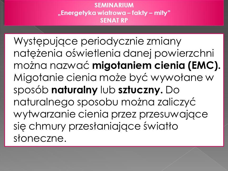 SEMINARIUM Energetyka wiatrowa – fakty – mity SENAT RP SEMINARIUM Energetyka wiatrowa – fakty – mity SENAT RP Występujące periodycznie zmiany natężeni