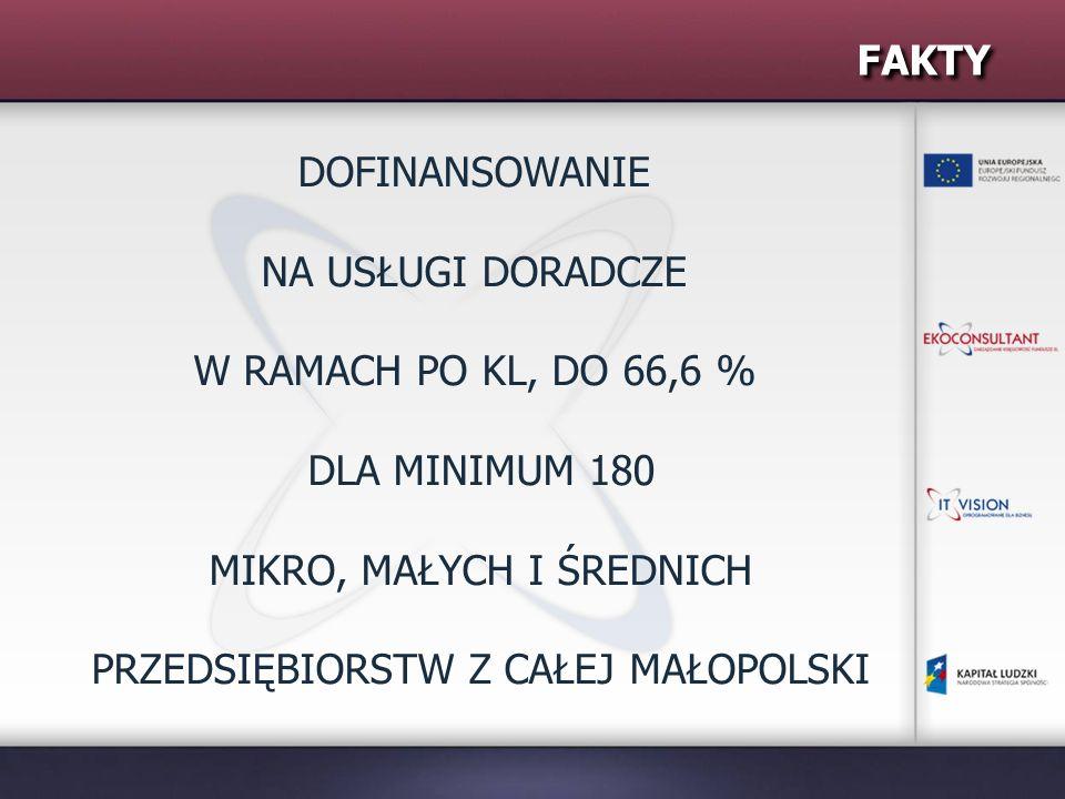 KONTAKT Twój biznes, nasze wsparcie – doradztwo dla MŚP powstał by wspierać małopolskich przedsiębiorców Wejdź na www.doradztwomsp.pl lub skontaktuj się z nami: Ekoconsultant Sp.