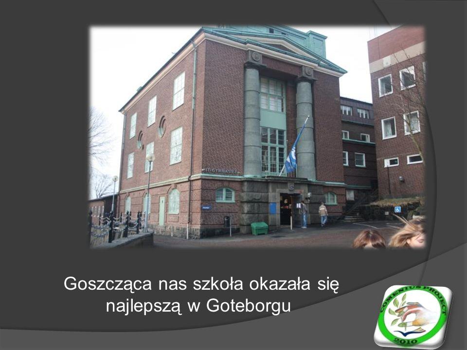Goszcząca nas szkoła okazała się najlepszą w Goteborgu