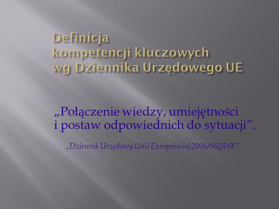 Połączenie wiedzy, umiejętności i postaw odpowiednich do sytuacji. Dziennik Urzędowy Unii Europejskiej 2006/962/WE