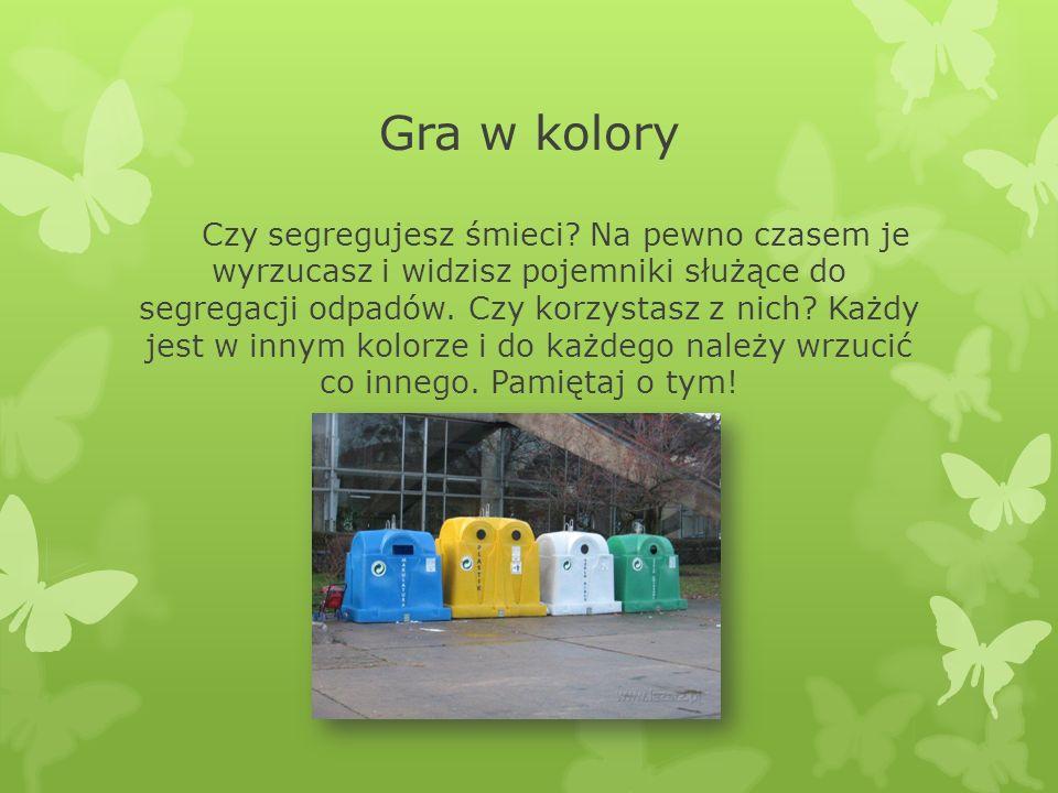 Gra w kolory Czy segregujesz śmieci.