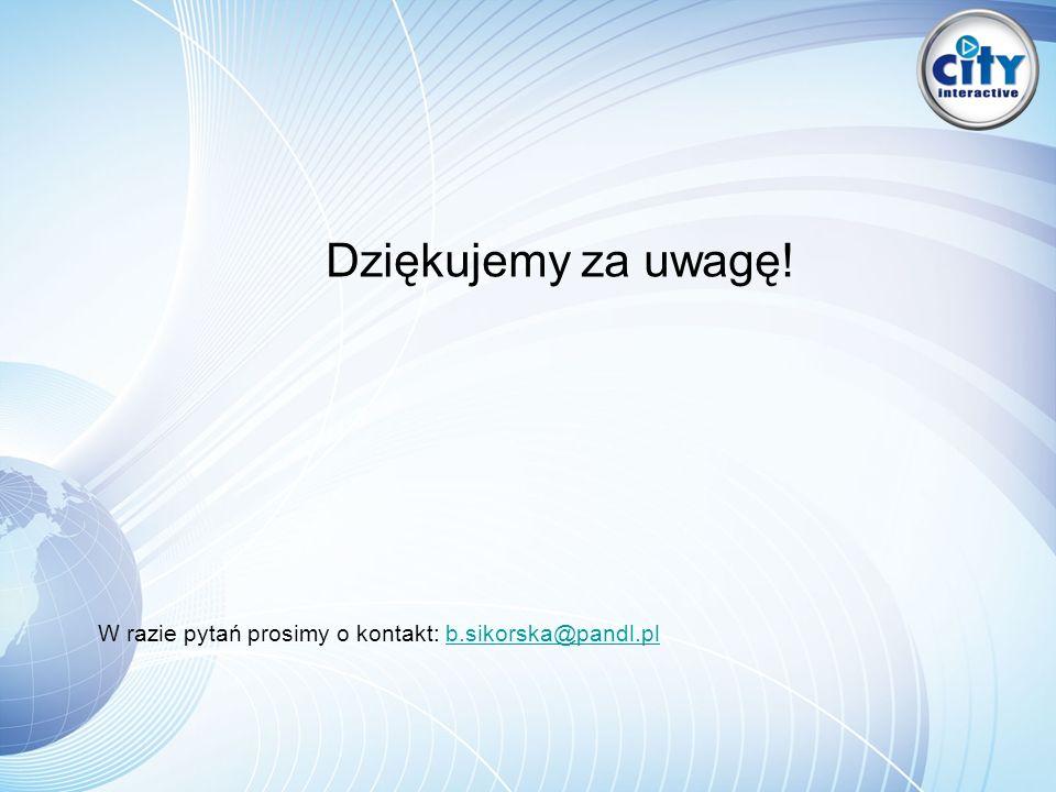 Dziękujemy za uwagę! W razie pytań prosimy o kontakt: b.sikorska@pandl.plb.sikorska@pandl.pl