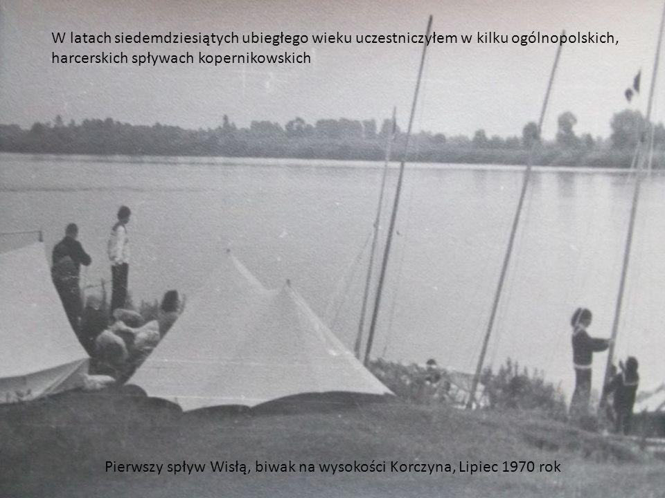 Liścienica w fordewindzie pod pełnymi żaglami. Spływ Kopernikowski Lipiec 1971 rok