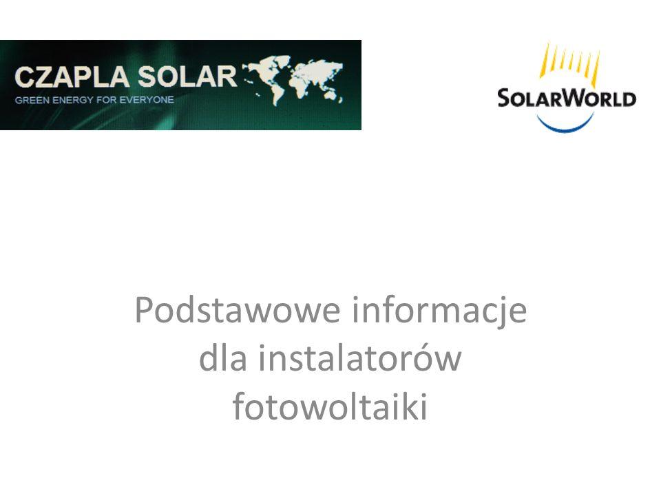 Prawo europejskie - materiały - Moduł fotowoltaiczny - Każdy moduł, który jest używany na rynku powinien posiadać informacje zgodnie z normą europejską IEC 61215.