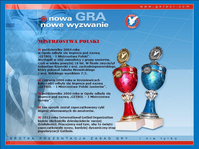 MISTRZOSTWA POLSKI W październiku 2004 roku w Opolu odbyła się impreza pod nazwą GETBOL - I Mistrzostwa Polski